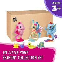 MY LITTLE PONY THE MOVIE - SEAPONY COLLECTION 3 PACK EXCLUSIVE *UK STOCK*
