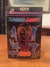 Summer Games 1984 Atari 2600 Video Game by EPYX NIB Gymnastics 100 Yard Dash NIP