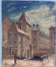 3v4: Ölgemälde Münchner Schule Altmünchen Falkenturm München Angertor Keck ~1840
