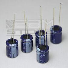5 pz Condensatori elettrolitici 470uF 25V 85° - ART. FO06