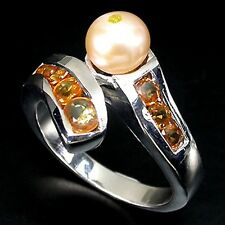 LDN_Bague Perle Saphirs Diamant veritable_Argent 925_55/56_139€ __-40% le 24.08