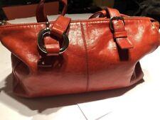 Francesco Biasa Orange Leather Satchel Bag