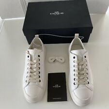 Coach C114 White Low Top Leather Sneaker Mens Size 9.5D New In Original Box