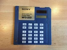 SONY Solar Powered Calculator Retro Floppy Disc Vintage Promotional Collectable