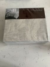 Hudson Park Natalya Cotton Cashmere Queen Duvet Cover Light Tan Gray Msrp: $355