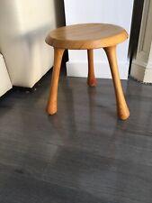 Vintage Ingvar Kamprad design Pine Lacquered Milking Stool.