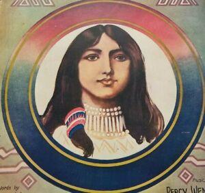 1911 GOLDEN DEER SONG Harry Williams & Percy Wenrich Indian STARMER Sheet Music