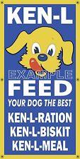 KEN L DOG FOOD OLD SCHOOL SIGN REMAKE BANNER GENERAL/FEED STORE ART MURAL 2'X4'