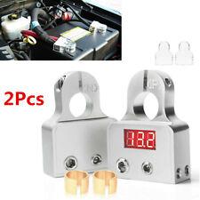 Car Positive Negative Digital Battery Terminal Connectors w/12V-24V Voltmeter
