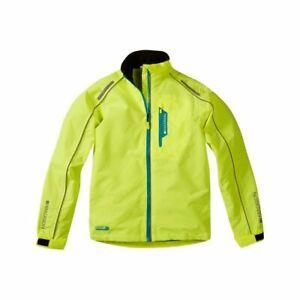 Madison Protec Hi viz, waterproof cycling, riding, bike jacket, Bright yellow.