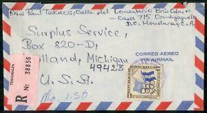 MayfairStamps Honduras 1964 Tegucigalpa Registered to Holland Michigan Air Mail