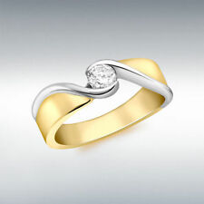 Solitaire Excellent Cut Yellow Gold SI1 Fine Diamond Rings
