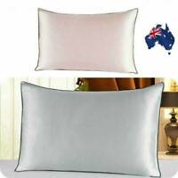 AU 100% Pure and Organic Mulberry Silk Pillow Case - 25 Momme Grey Silver 1/2Pcs
