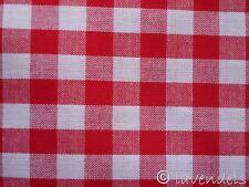 Vichy Karo Baumwolle Stoff ♥ Patchwork kariert  rot 0,9 tomatenrot