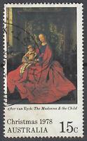 Australien gestempelt Weihnachten 1978 van Eyck Belgien Maler Gemälde Kunst/1733