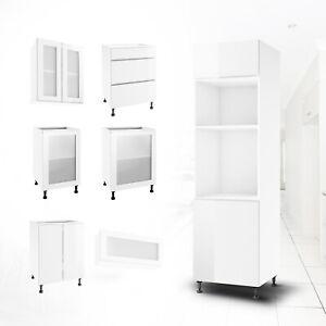 Küchenschrank Hängeschrank Unterschrank separat wählbar Küchenunterschrank Weiß