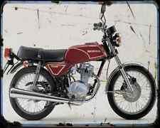 Honda Cb125Jx 81 A4 métal signe Moto Vintage Aged