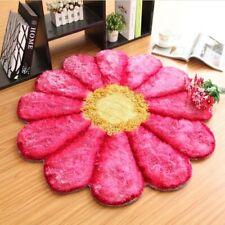 Beautiful 90CM Diameter 3D Rose Rug Flower Carpets for Living Room Stretch Yarn