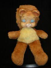 "Vintage 14"" Closed Eyes KNICKERBOCKER Pouty Sad Rubber Face Bear Plush"