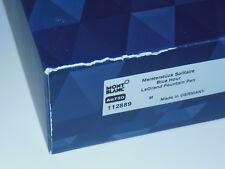 New/Torn Box* Montblanc Meisterstuck Solitaire Blue Hour LeGrand Fountain Pen M