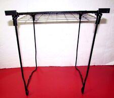 "12"" Free Standing Black Metal Wire Locker Shelf."