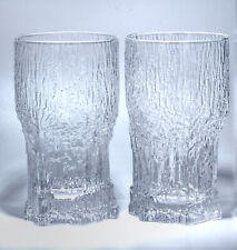"2 Iittala Finnland ""Aslak""Highball / Longdrink Glas Tapio Wirkkala  Höhe 14,0 cm"