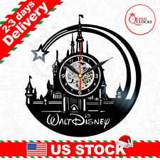 Wall Clock Modern Cartoon Gift For Kids Little Mermaid Wood Clock Mickey Mouse Wooden Clock Walt Disney Gift For Girl Disney Birthday Gift Walt Disney Wooden Clock Wall Clock Vintage