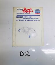 "Ford 44"" & 48"" Mower Deck (for GT Tractors) Operators Owners Manual New Holland"