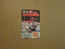 NHL Les Canadiens Vintage 1989-90 Logo Pocket Schedule