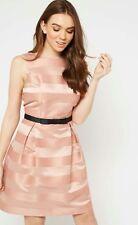 Miss Selfridge PINK STRIPE PROM DRESS Size 14 BNWT £49!