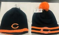 Chicago Bears NFL Team Apparel 2 Winter Cap Bundle Price NWT One Size Navy Sale