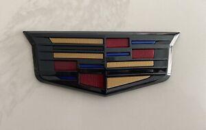 Black  Rear Trunk Lid Crest Emblm Badge for Cadillac ATS XTS CTS 2015-2018