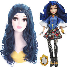 Descendants Evie Braid Blue Black Mixed Color Long Wavy Cosplay Wig USA Ship Wig