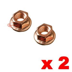 SMART CAR FORTWO 450 TURBO EXHAUST STUD NUTS M8 A1201420072 COPPER COATED X2 NEW