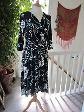 Stunning River Island Black Flower Dress Size10 Good Gentle Worn Condition.