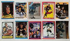 1978-95 Pittsburgh Penguins NHL 10 Lot - LEMIEUX-RECCHI-STEVENS-FRANCIS-CULLEN