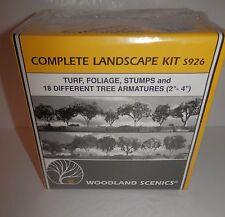 Woodland Scenics Complete Landscape Kit - Turf, Foliage, Stumps #S926 Nib