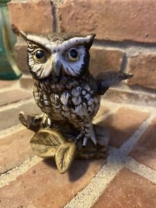 HOMCO OWL FIGURINE WITH STICKER NUMBERED