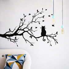 22.8*15'' Removable Wall Sticker Modern Cat Tree Branches Sofa Restaurant Pvc Us