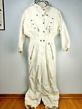 BOGNER Ski Suit One Piece Ivory Size 12 40 Snow Board Alpen Power Vintage