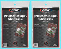 """200 BCW 6""""x9"""" SOFT POLY SLEEVES Photo Clear 6x9 Photograph Oversize Post Card"""