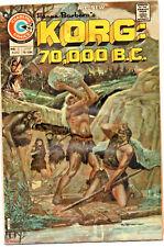 Korg: 70,000 B.C. #2   1976, Charlton  Good/VG
