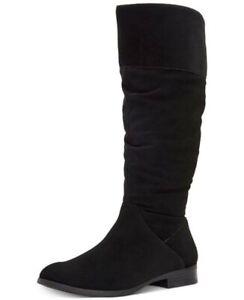 Style & Co. Womens Kelimae Round Toe Knee High Fashion, Black Suede, Size 9.5