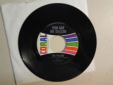 "PACERS: You Got Me Bugged 2:00-Sassy Sue 2:10-U.S. 7"" 64 Coral Records INC.62398"
