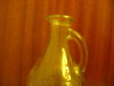 Antique glass bottle pitcher jug applied handle 1930's