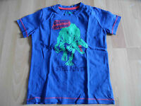TOM TAILOR schönes Shirt Dinosaurier blau Gr. 116/122 TOP KY315
