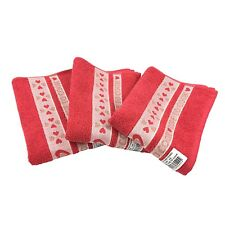 New Riggs Set Of 3 Love To Cook Red Kitchen Tea Towel, 50cm x 65cm, 100% Cotton