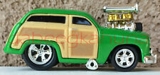 """Funline 2001 - Muscle Machines - Die-Cast - Rubber Tires - Green Woody - 3 """""""