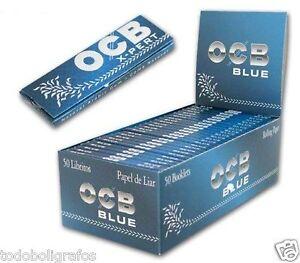 Ocb xpert blue - azul. Rolling paper. tamaño corto 70mms. Papel de Fumar