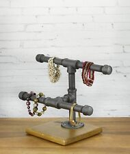 Industrial Pipe Jewelry Display - Small 2-Tier Jewelry Organizer by WRV
